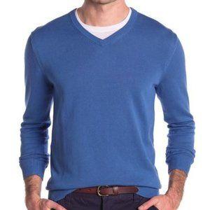 Joe Fresh Blue V Neck Pullover Sweater Solid Classic